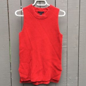 J Crew Red Knit Sweater Size XS